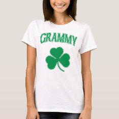 Irish Grammy Green Shamrock T-Shirt at Zazzle