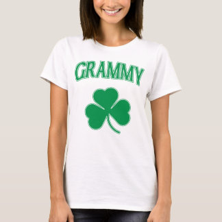 Irish Grammy Green Shamrock T-Shirt