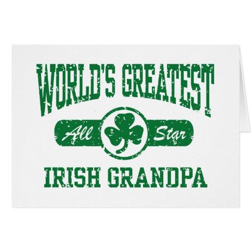 Irish Grandpa Greeting Card