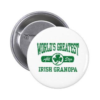 Irish Grandpa Pinback Button