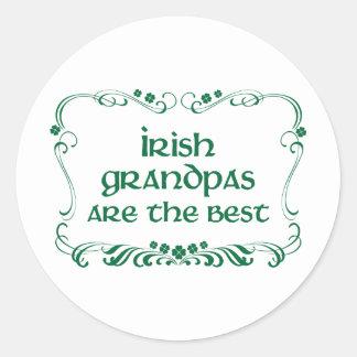 Irish Grandpa T-shirt Classic Round Sticker