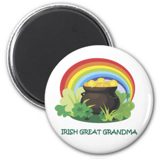 Irish Great Grandma 2 Inch Round Magnet