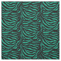 Irish Green and Black Zebra Animal Print Fabric