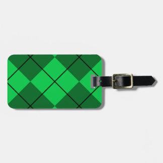 Irish Green Argyle Bag Tag