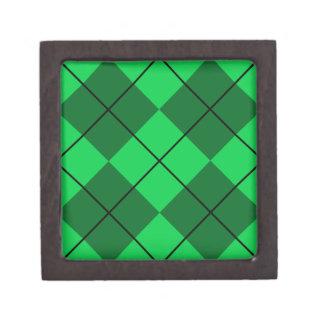 Irish Green Argyle Keepsake Box