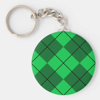 Irish Green Argyle Keychain
