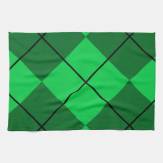 Irish Green Argyle Kitchen Towel