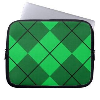 Irish Green Argyle Laptop Sleeve