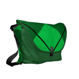 Irish Green Argyle Messenger Bag