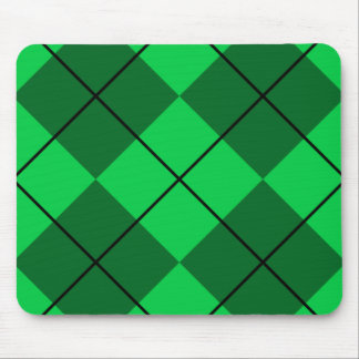 Irish Green Argyle Mouse Pad