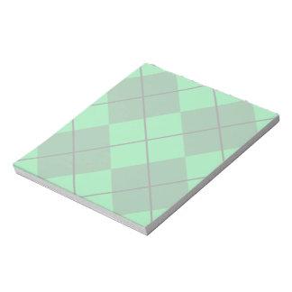 Irish Green Argyle Notepad
