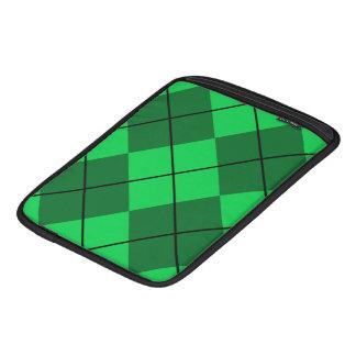 Irish Green Argyle Sleeve For iPads