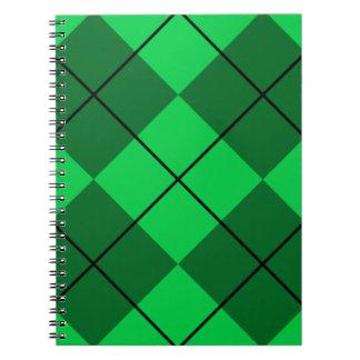 Irish Green Argyle Spiral Notebook