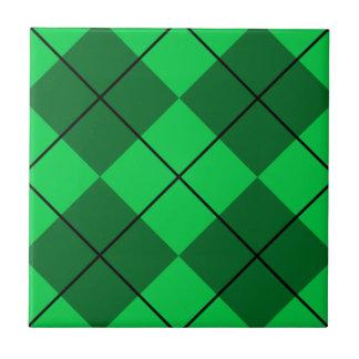 Irish Green Argyle Tile
