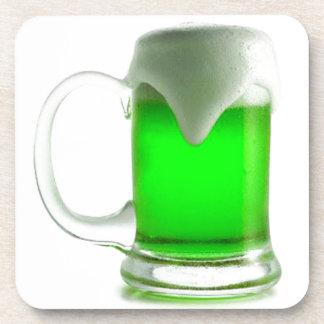 IRISH GREEN BEER DIGITAL REALISM PHOTOGRAPHY DRINK COASTER