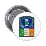 Irish Green Beer Toast Buttons