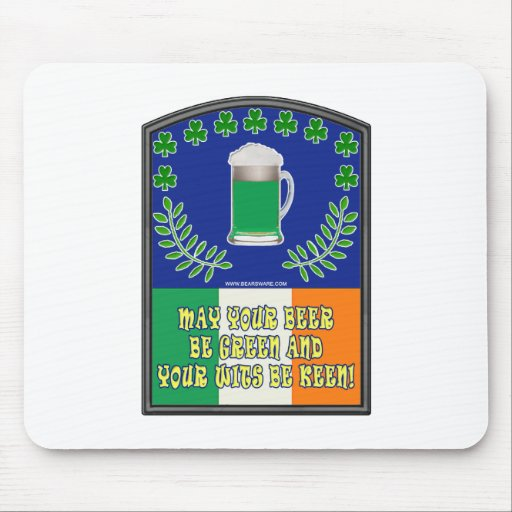 Irish Green Beer Toast Mouse Pad