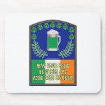 Irish Green Beer Toast Mousepad
