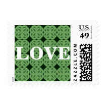 Irish Green Celtic Knot Love Postage Stamps