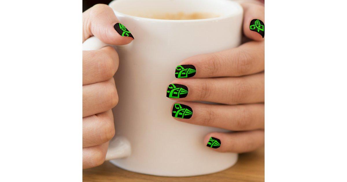Irish Green Celtic Knot Nail Polish Strips Minx Nail Wraps | Zazzle.com