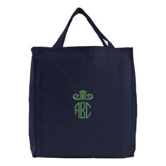 Irish Green Custom Monogrammed Embroidered Bag