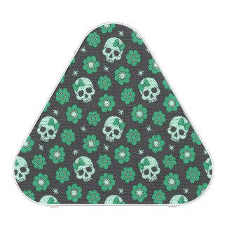 Irish Green Goth Skulls Bluetooth Speaker