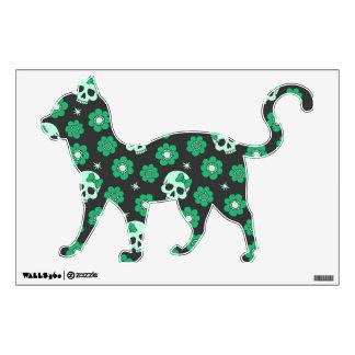 Irish Green Goth Skulls Wall Sticker