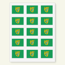 Irish Green Harp Flag St. Patrick's Day Temporary Tattoos