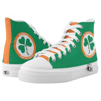 Irish Green Heart Erin Go Bragh Ireland Forever High-Top Sneakers