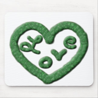 Irish Green Heart with Love Mouse Pad