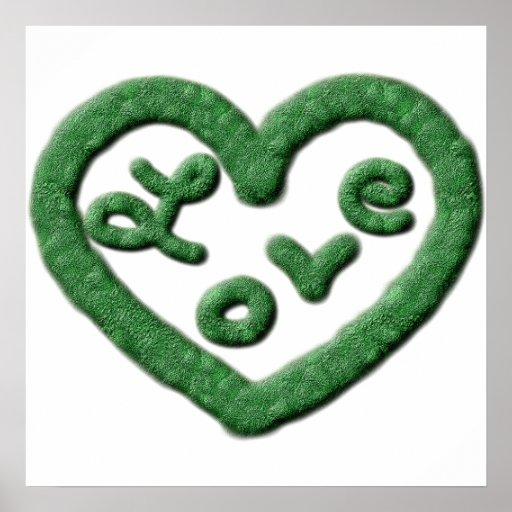Irish Green Heart with Love Poster