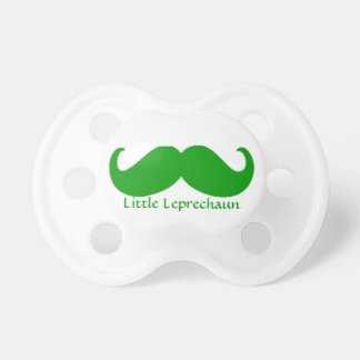 Irish green mustache and little leprechaun pacifier