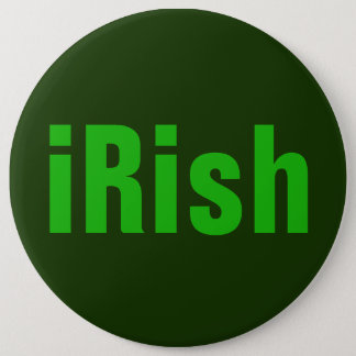 iRish Green on Green Pinback Button