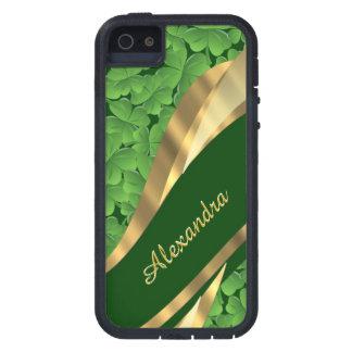 Irish green shamrock pattern personalized case for iPhone SE/5/5s