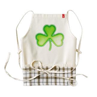 Irish green shamrock zazzle HEART apron