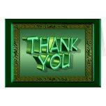 Irish Green Thank You Card