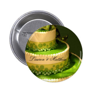Irish Green Wedding Cake decoration Button