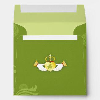 Irish Green Wedding Invitation Square Envelopes