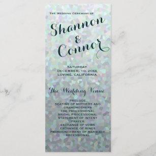 abe595fa8c Irish Green Wedding Program