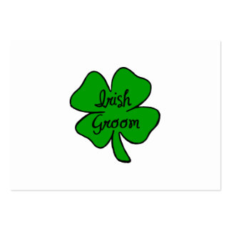 Irish Groom Large Business Cards (Pack Of 100)