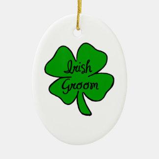 Irish Groom Ceramic Ornament