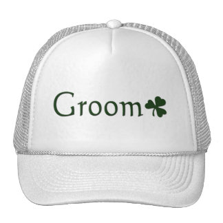 Irish Groom with Shamrock Trucker Hat