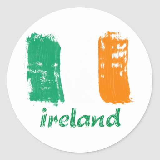 Irish grunge flag design sticker