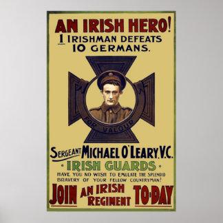 Irish Guard Hero WW I Poster