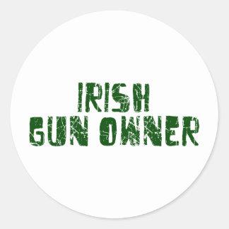 Irish Gun Owner Classic Round Sticker
