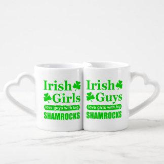 Irish Guys and Girls Love Big Shamrocks Coffee Mug Set