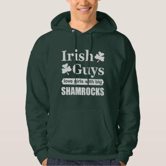Irish Guys Love Girls With Big Shamrocks Funny Hoodie