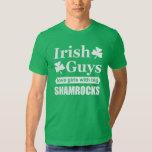 Irish Guys Love Girls With Big Shamrocks Funny Tee Shirt