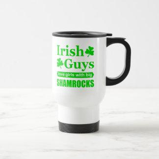 Irish Guys Love Girls With Big Shamrocks Funny Travel Mug