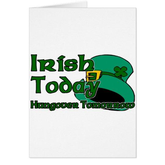 Irish Hangover Card